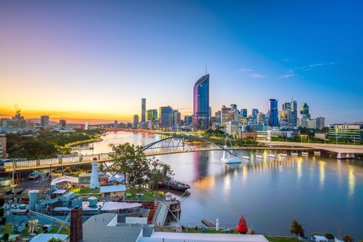 view of brisbane river and buildings